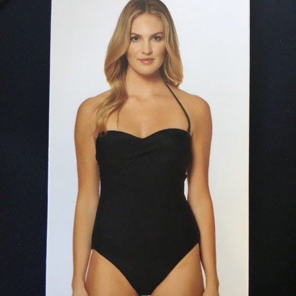 9691dff1ab6 Ellen Tracy Swim | Nwt Company By Black Halter Suit | Poshmark